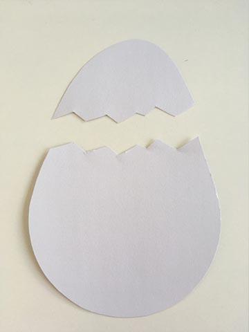 Ein zerbrochenes Ei basteln zu Ostern